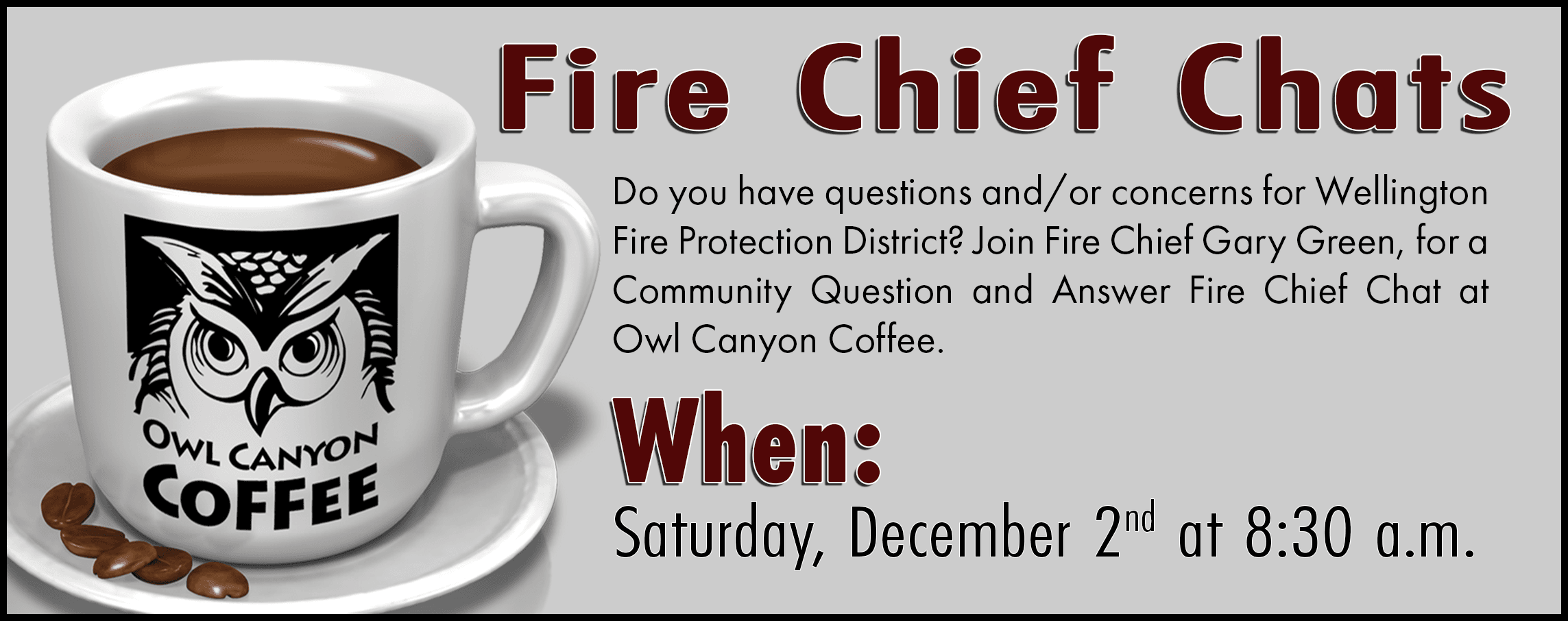 Dec. 2 Coffee with the Chief