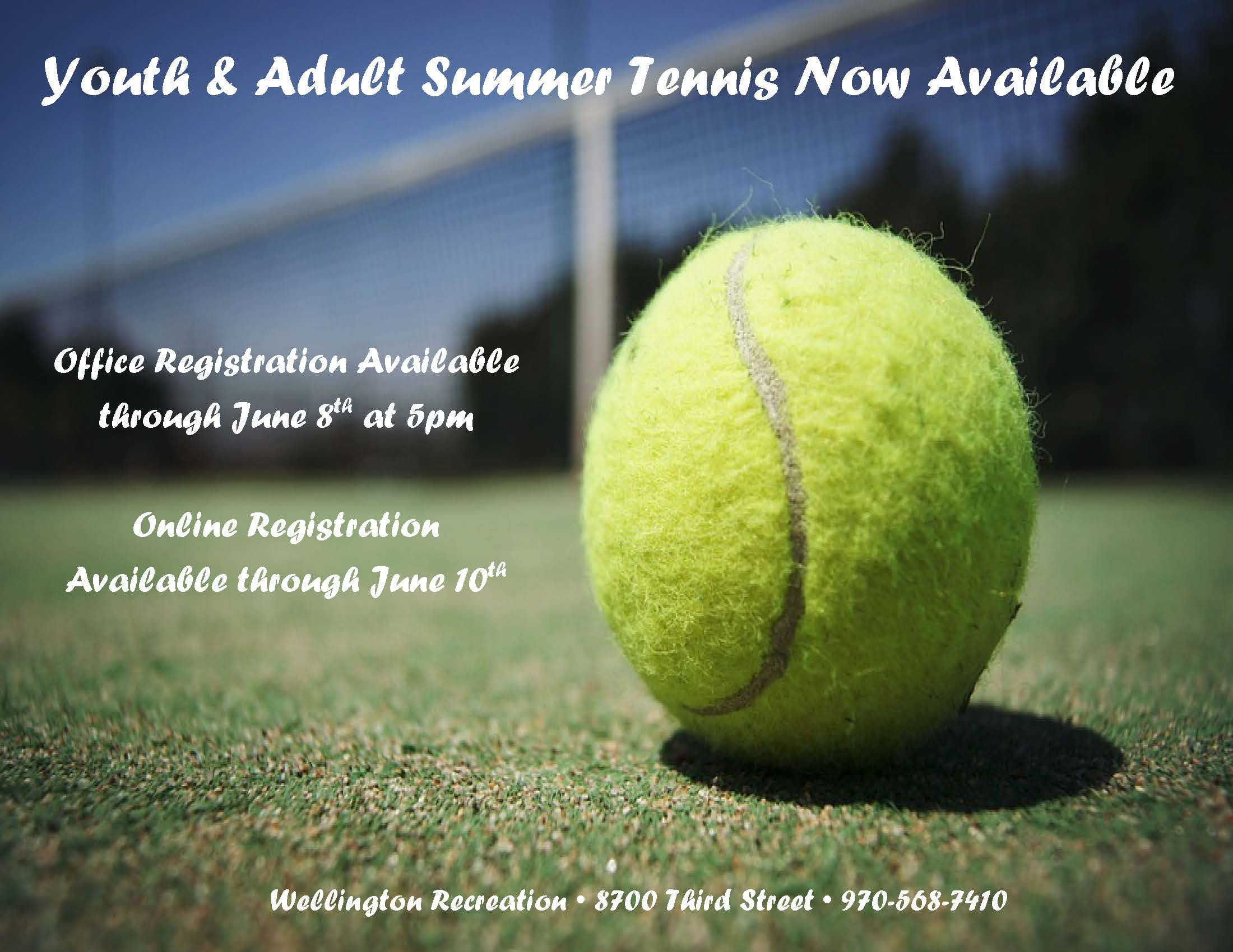 TENNIS NOW AVAILABLE