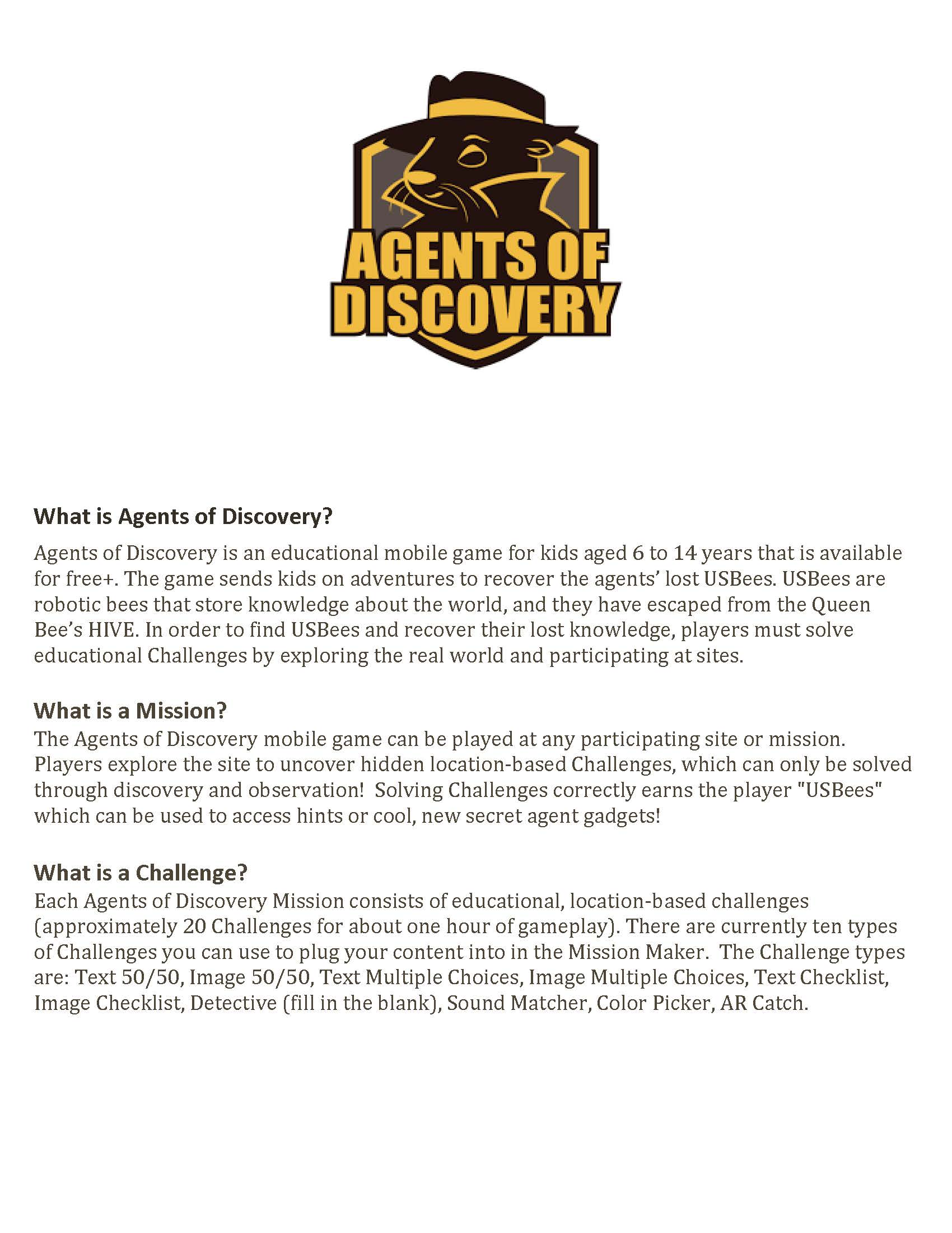 AGENTS OF DISCOVERY_INFO