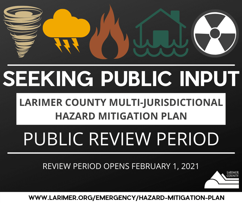 Submit feedback on the Larimer County Hazard Mitigation Plan